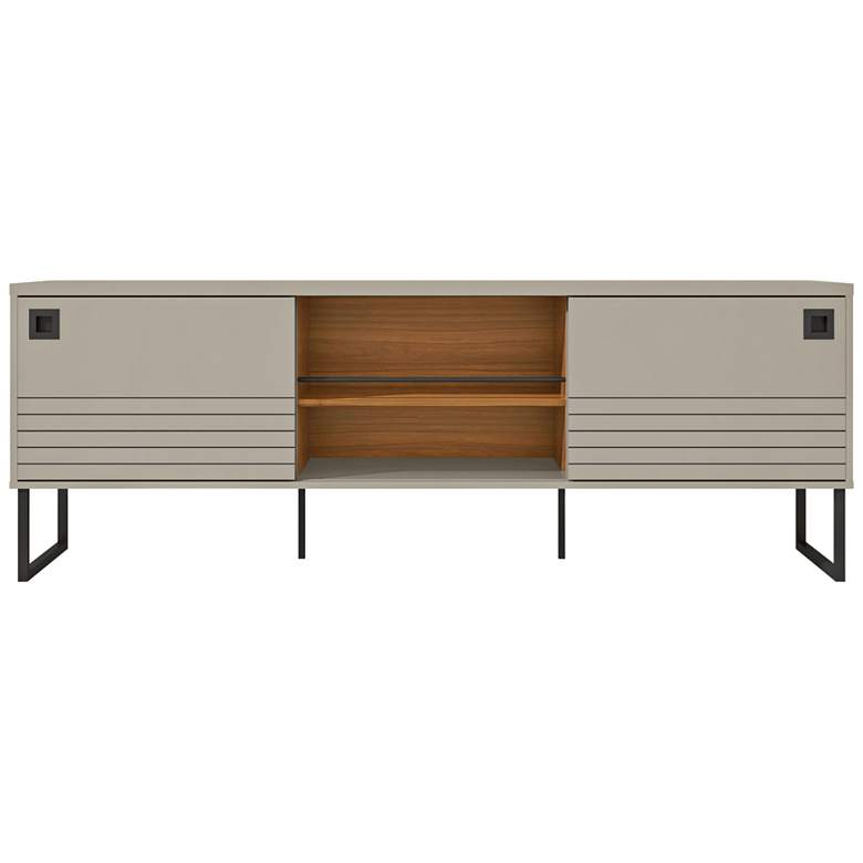 """Loft 70 1/2"""" Wide Off-White Wood TV Stand"""