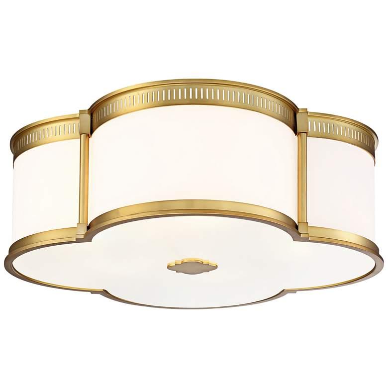 "Flush Mount 22"" Wide Liberty Gold LED Ceiling Light"