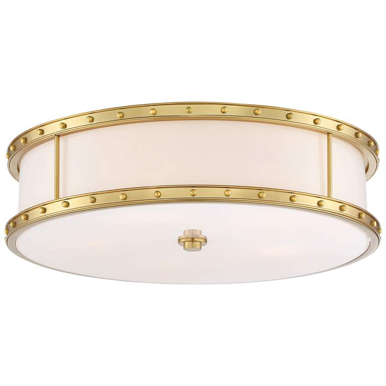 "Flush Mount 20 1/4"" Wide Liberty Gold Drum LED Ceiling Light"