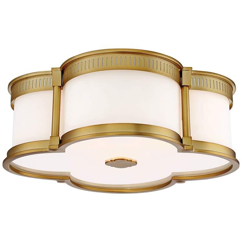 "Flush Mount 16 1/4"" Wide Liberty Gold LED Ceiling Light"