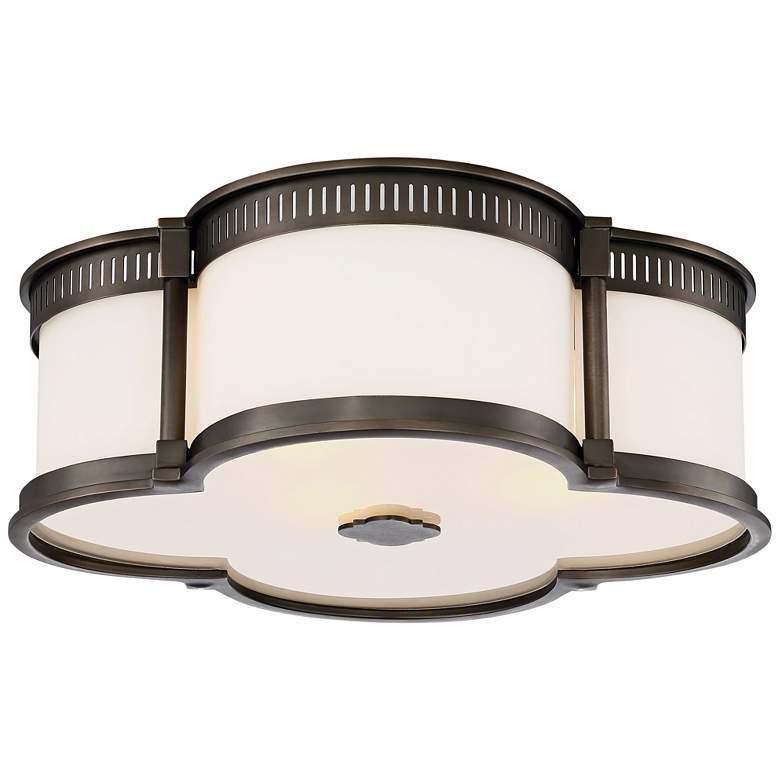 """Flush Mount 16 1/4""""W Harvard Court Bronze LED Ceiling Light"""