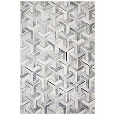 """Loloi Maddox MAD-05 5'x7'6"""" Silver and Ivory Area Rug"""