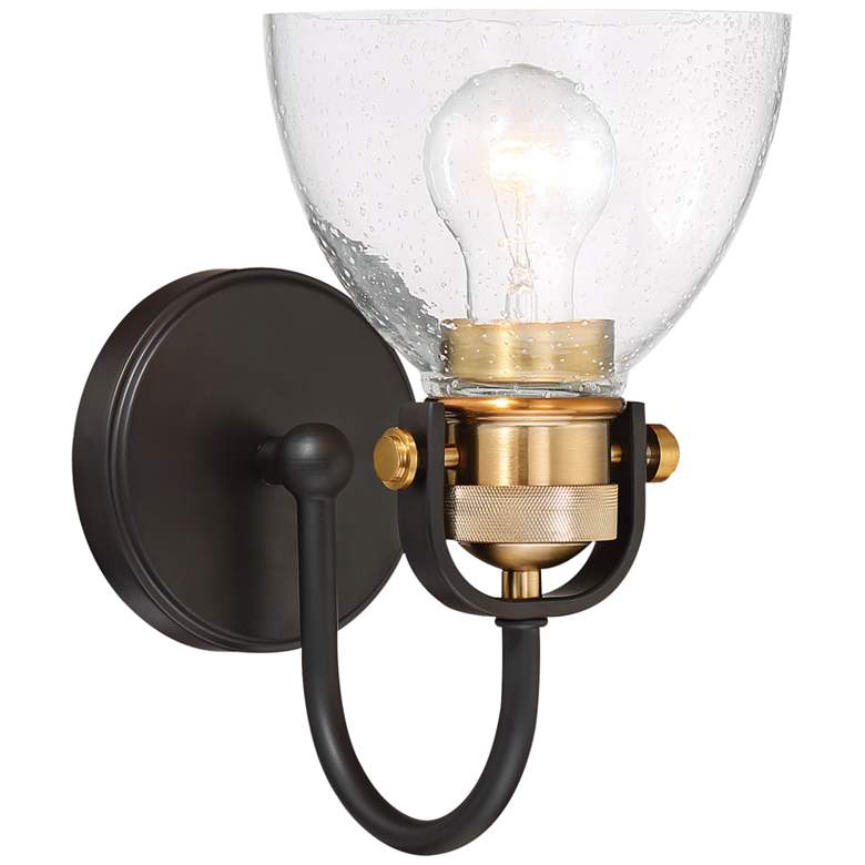 """Monico 10 1/2"""" High Bronze and Brass Wall Sconce"""