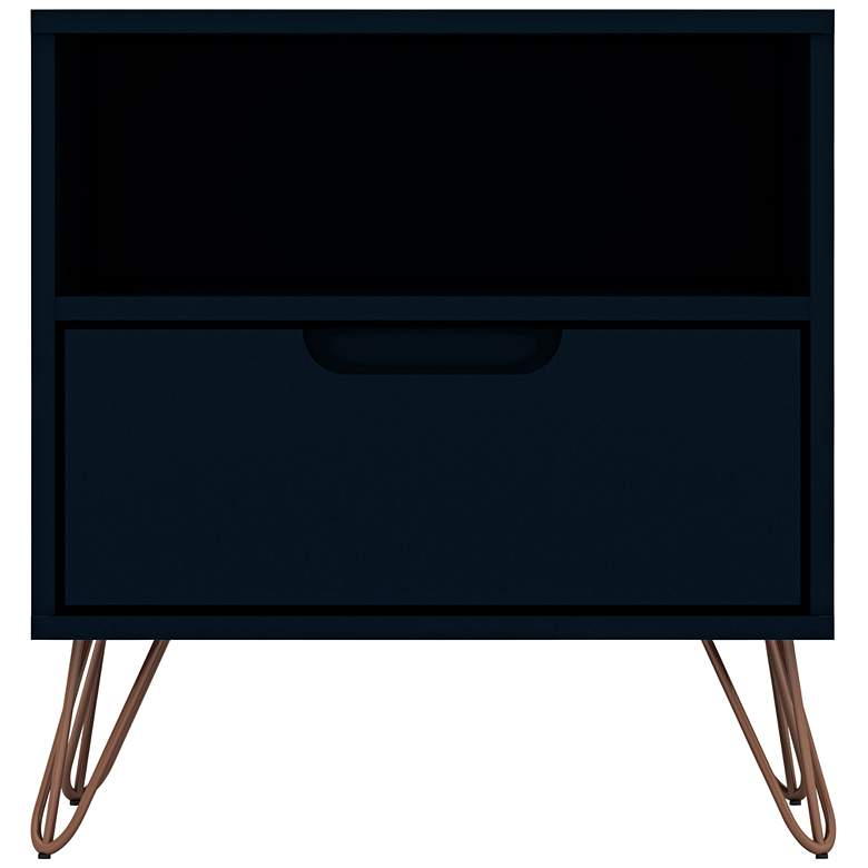 "Rockefeller 20""W Tatianna Blue 1-Shelf 1-Drawer Nightstand"