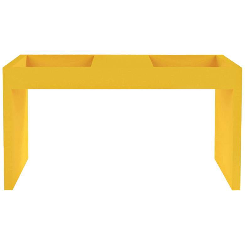 "Marine 26 3/4""W Matte Yellow Coffee Table w/"