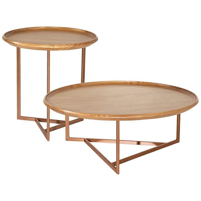 Knickerbocker Cinnamon Wood End and Coffee Tables Set of 2