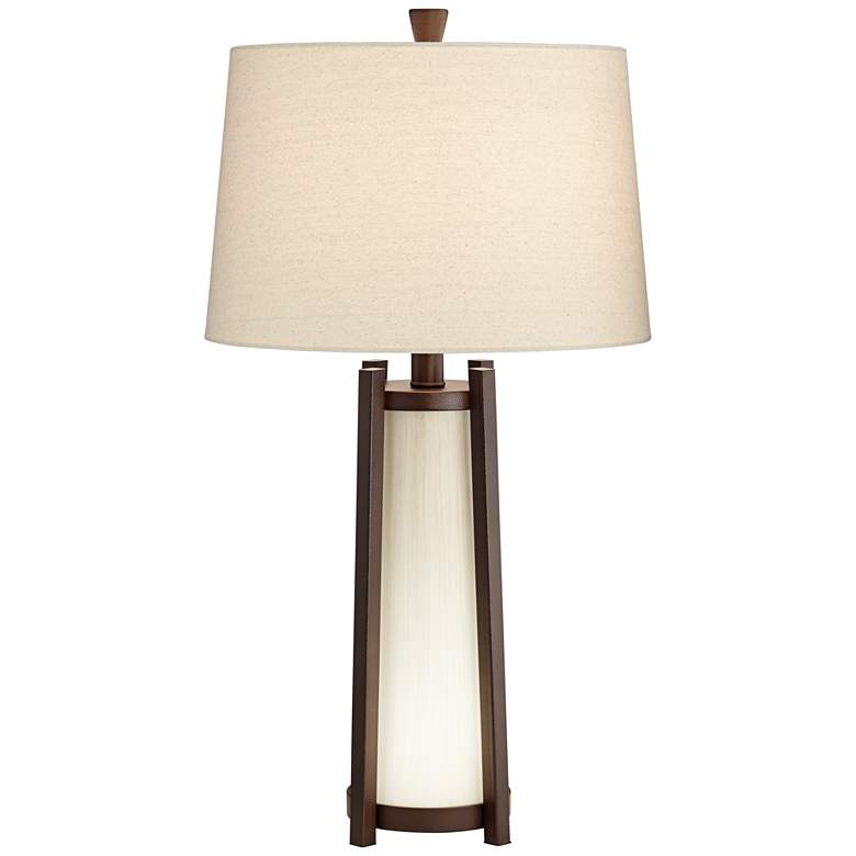 Phillip Oil-Rubbed Bronze Table Lamp with LED Night Light