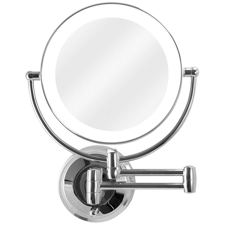 Next Generation® Chrome LED Wall Makeup Mirror