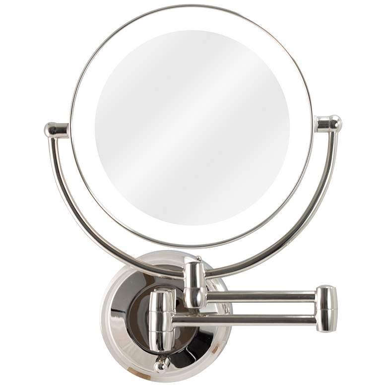 Next Generation® Polished Nickel LED Wall Makeup Mirror