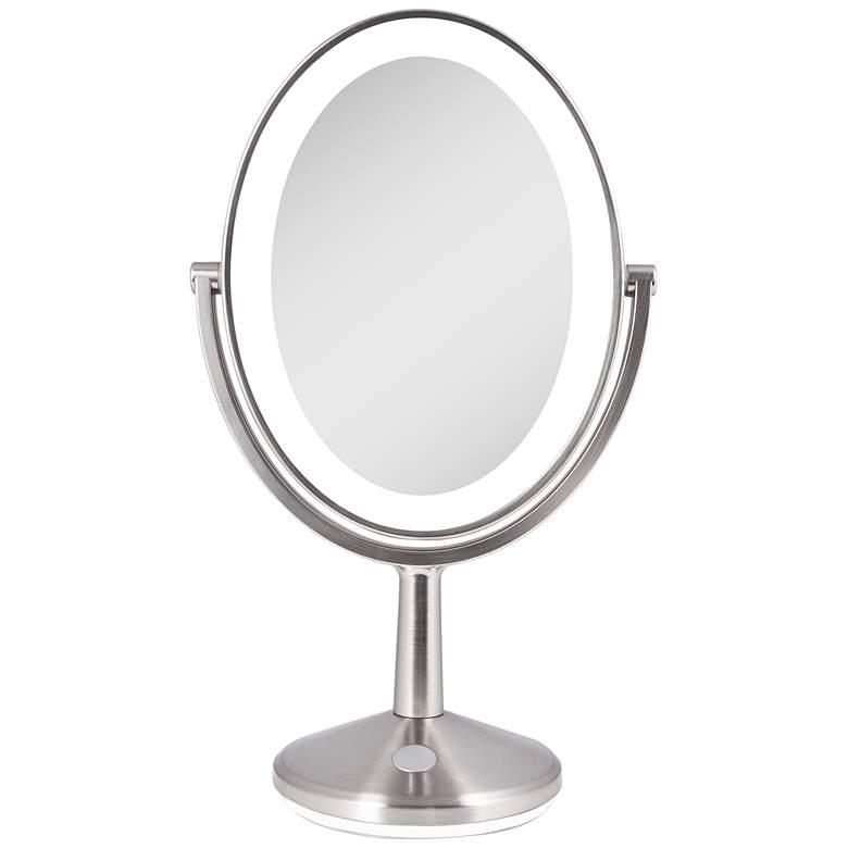 Huntington Satin Nickel Led Usb Rechargeable Vanity Mirror