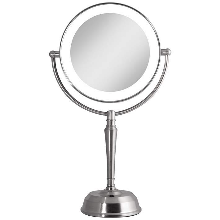 Satin Nickel Cordless Led Vanity Mirror, Silhouette Led Vanity Mirror Reviews