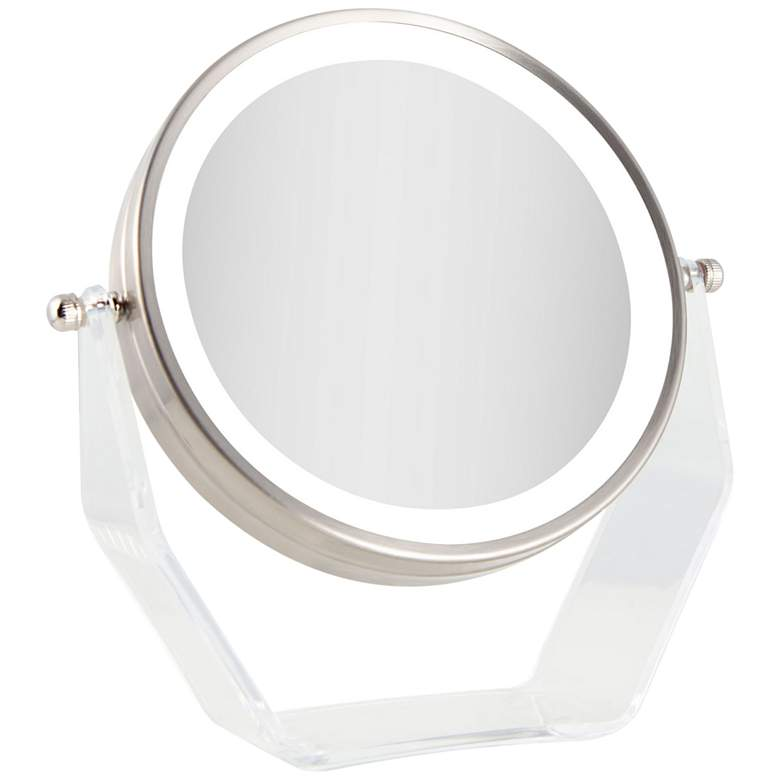 Next Generation Satin Nickel Swivel Led Vanity Mirror