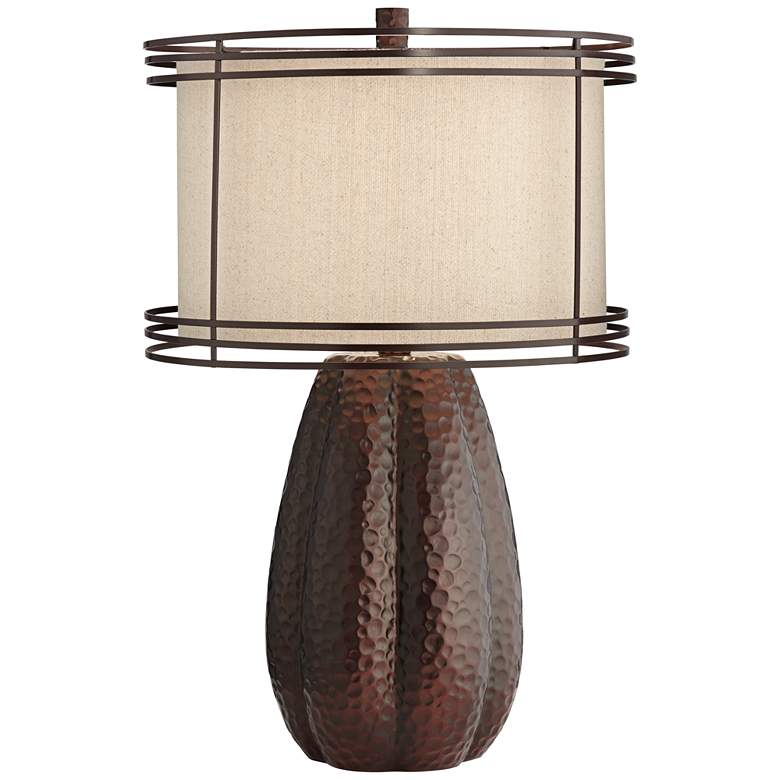 Dannie Hammered Bronze Jug Table Lamp