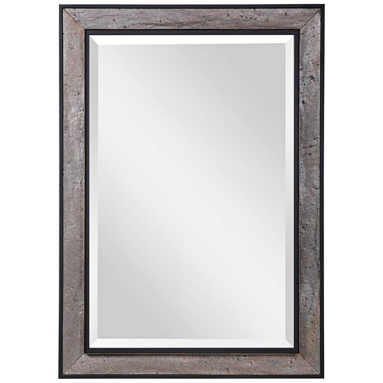 """Slater Brown and Gray 30"""" x 41 3/4"""" Vanity Wall Mirror"""