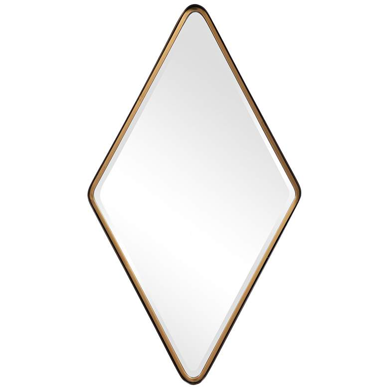 "Crofton Black Gold Diamond 24"" x 42 1/4"" Vanity Wall Mirror"