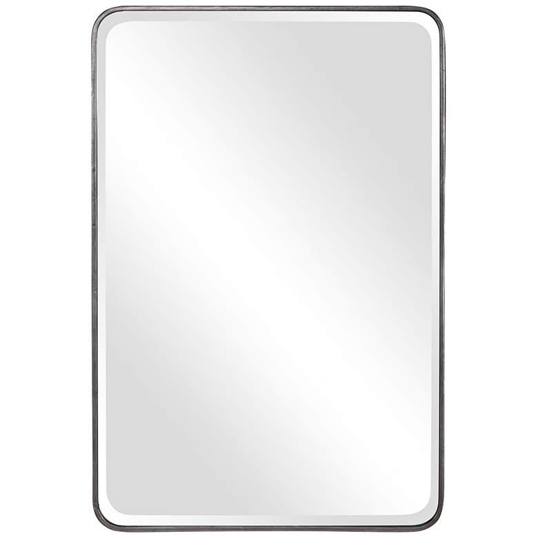 "Uttermost Aramis Silver Leaf 24"" x 36"" Vanity Wall Mirror"