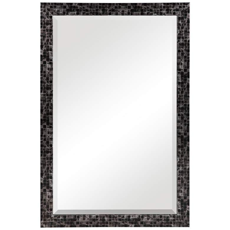 "Graphique Black w/ Gray 23 3/4"" x 35 3/4"" Vanity Wall Mirror"