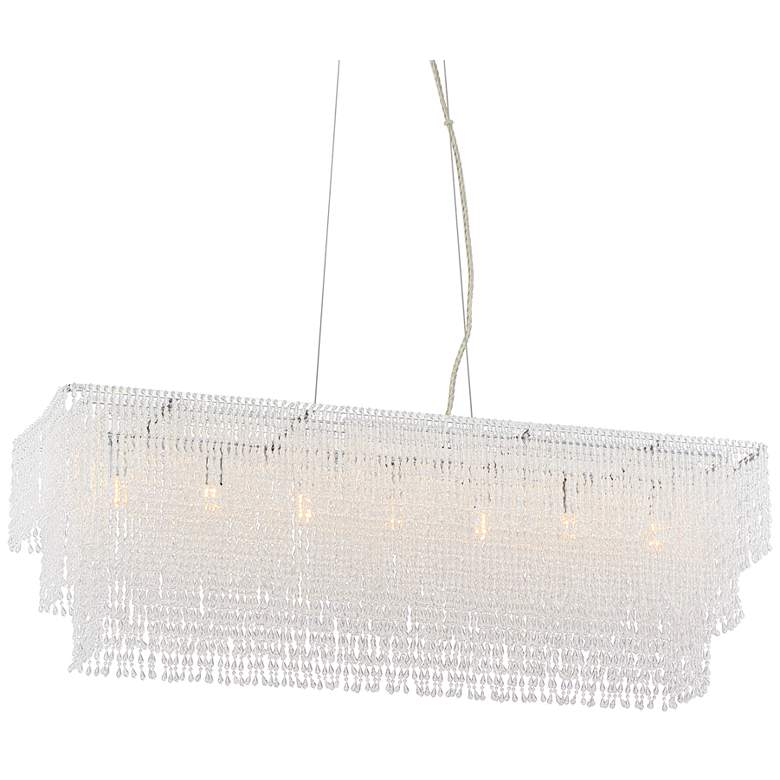 "Jessa 33 1/2""W Crystal Beaded Kitchen Island Light Pendant"
