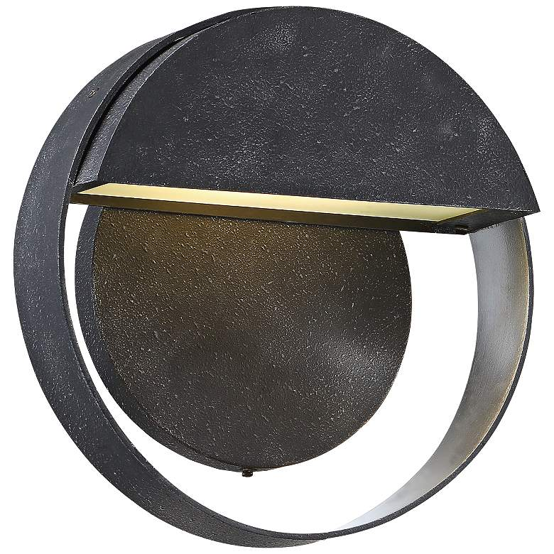 "Espirit Del Sol 9"" High Gilded Iron Outdoor"