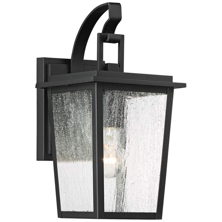"Cantebury 14 1/4"" High Sand Black Outdoor Wall Light"