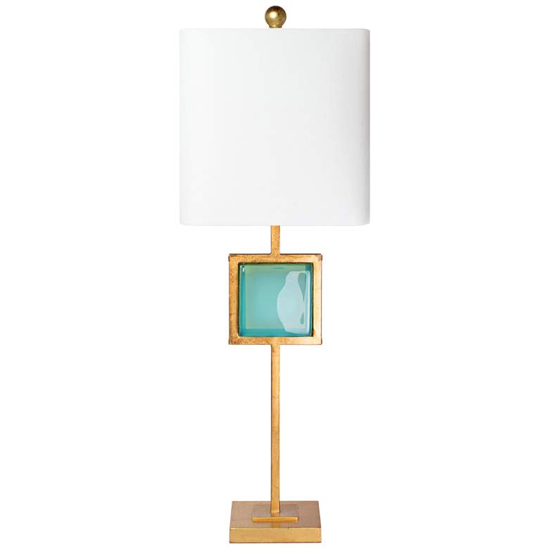 Couture Leighton Gold Leaf Metal Buffet Table Lamp