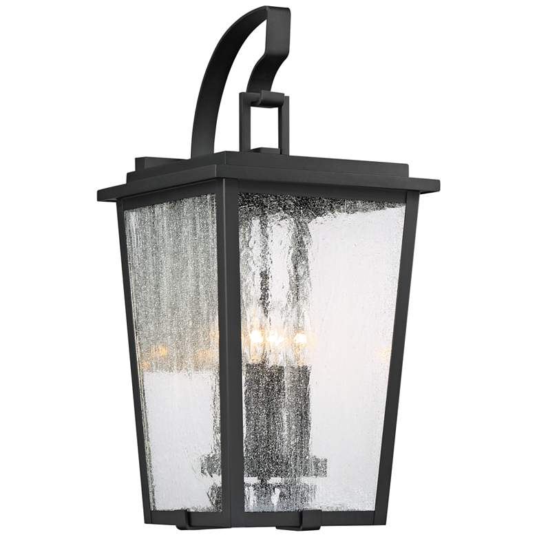 "Cantebury 23"" High Sand Black 4-Light Outdoor Wall Light"