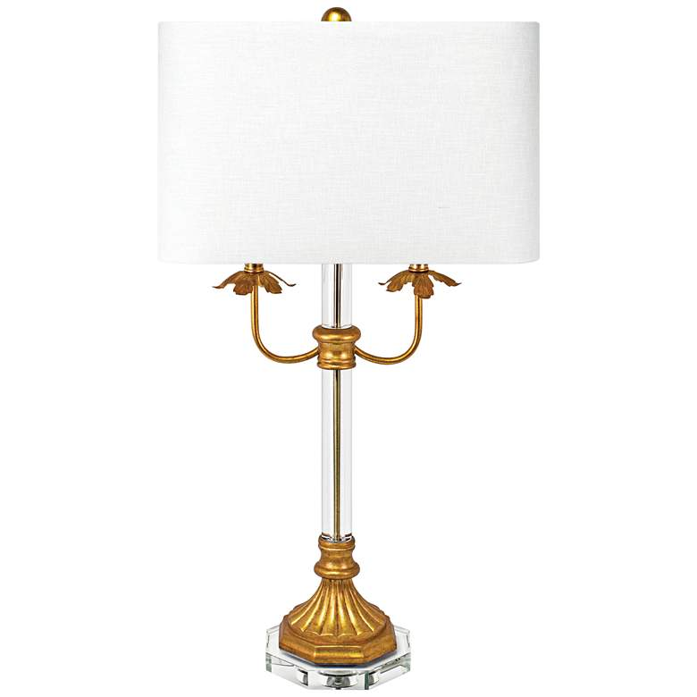 Couture Wallington Gold Leaf 2-Light Table Lamp