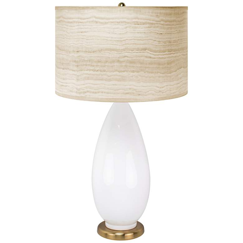 Couture Rochelle White Modern Table Lamp