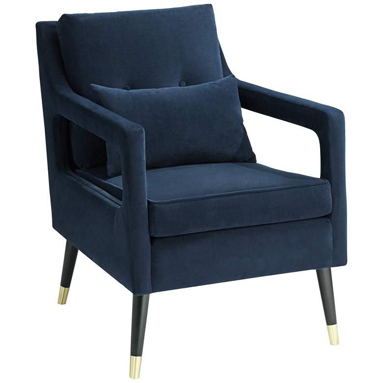 Tilman Blue Fabric Tufted Accent Chair