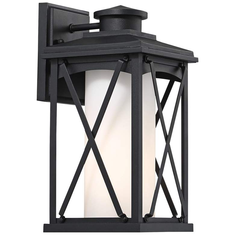 "Lansdale 12 3/4"" High Matte Black Outdoor Wall Light"