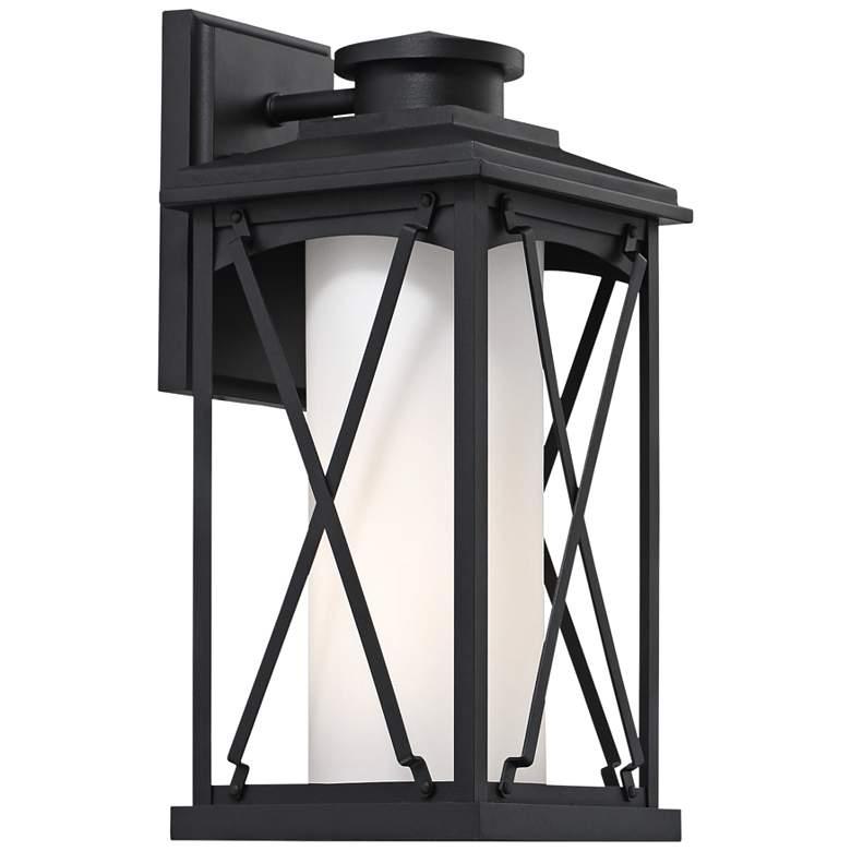 "Lansdale 15 1/2"" High Matte Black Outdoor Wall Light"