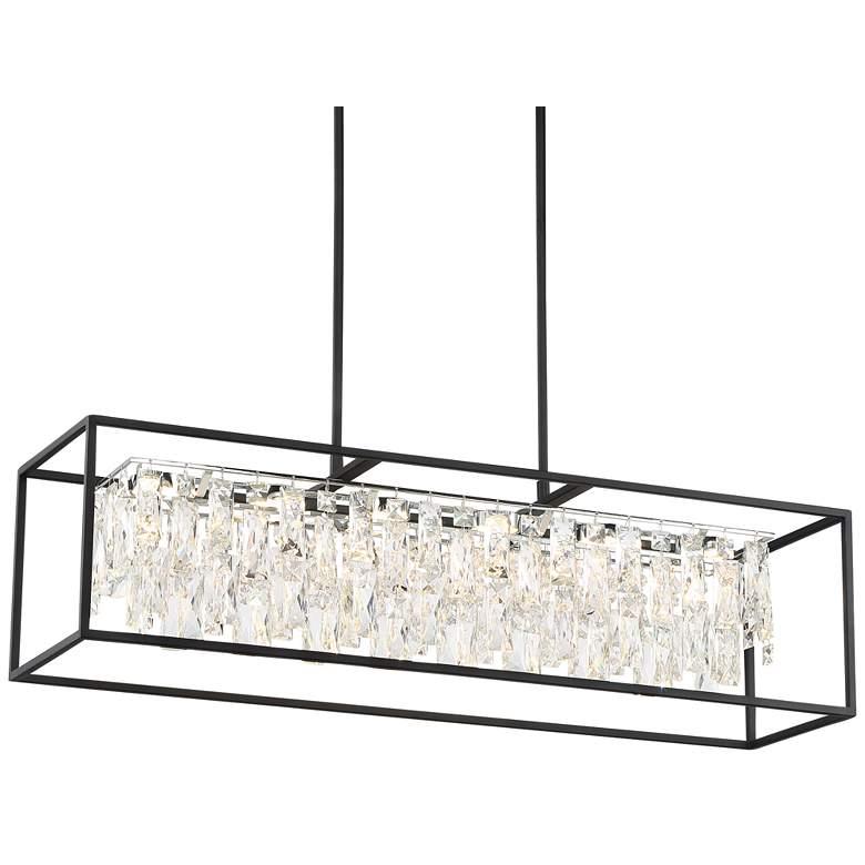 "Krisa 35 1/2"" Wide Crystal LED Kitchen Island Light Pendant"