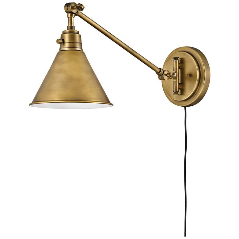 Hinkley Arti Heritage Brass Adjustable Hardwire Wall Lamp