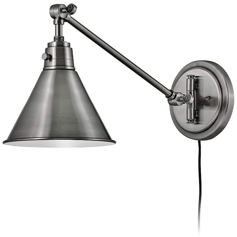 Hinkley Arti Polished Antique Nickel Hardwire Wall Lamp