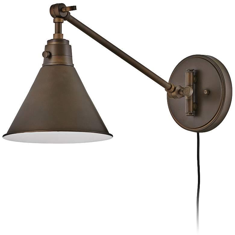 Hinkley Arti Olde Bronze Adjustable Hardwire Wall Lamp