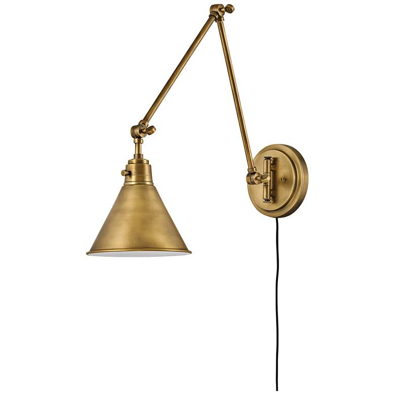 Hinkley Arti Heritage Brass Joint Arm Hardwire Wall Lamp