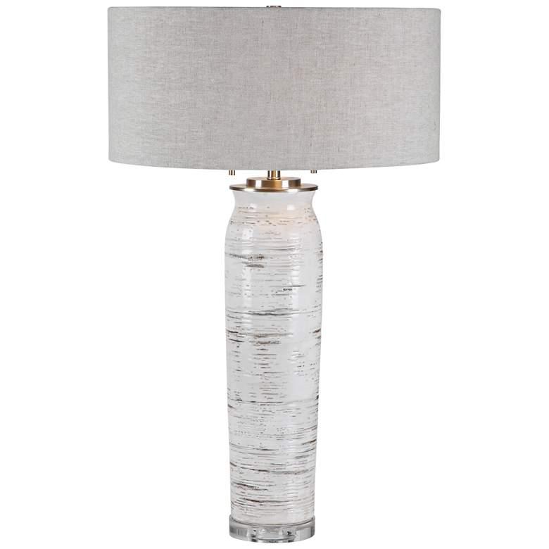 Uttermost Lenta Off-White Birch Tree Ceramic Table Lamp