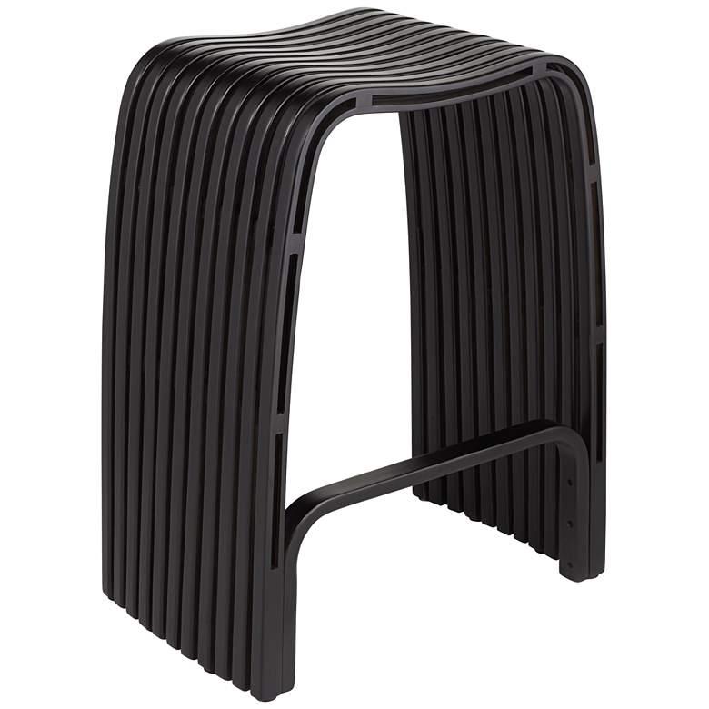 "Verana 24"" High Bent Wood Black Counter Stool"
