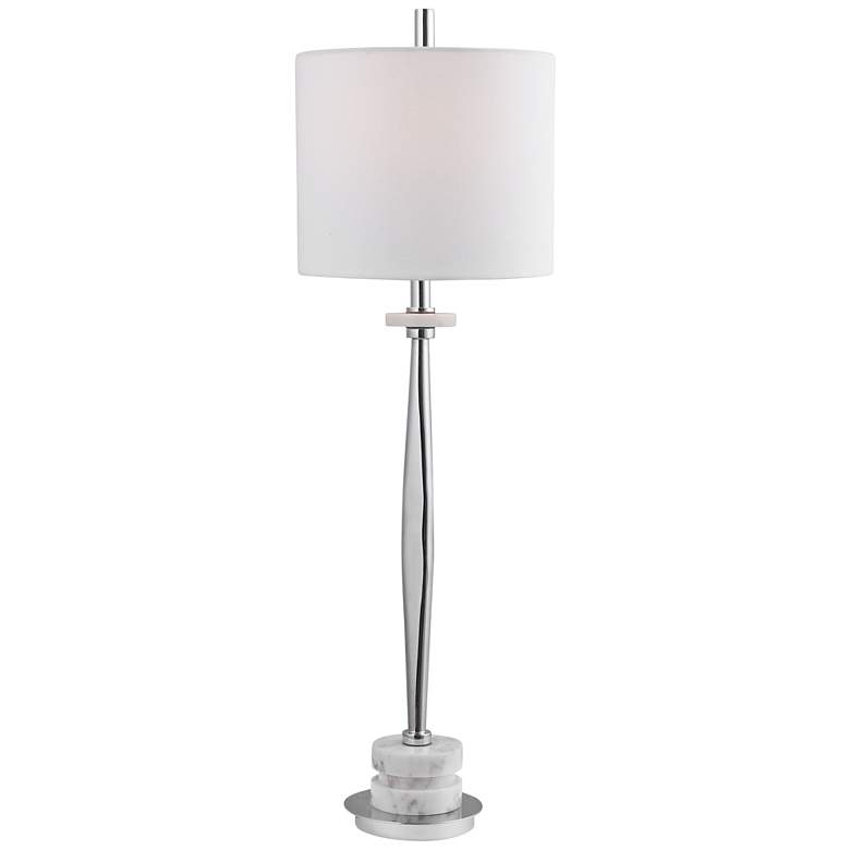 Uttermost Magnus Plated Chrome Metal Buffet Table Lamp