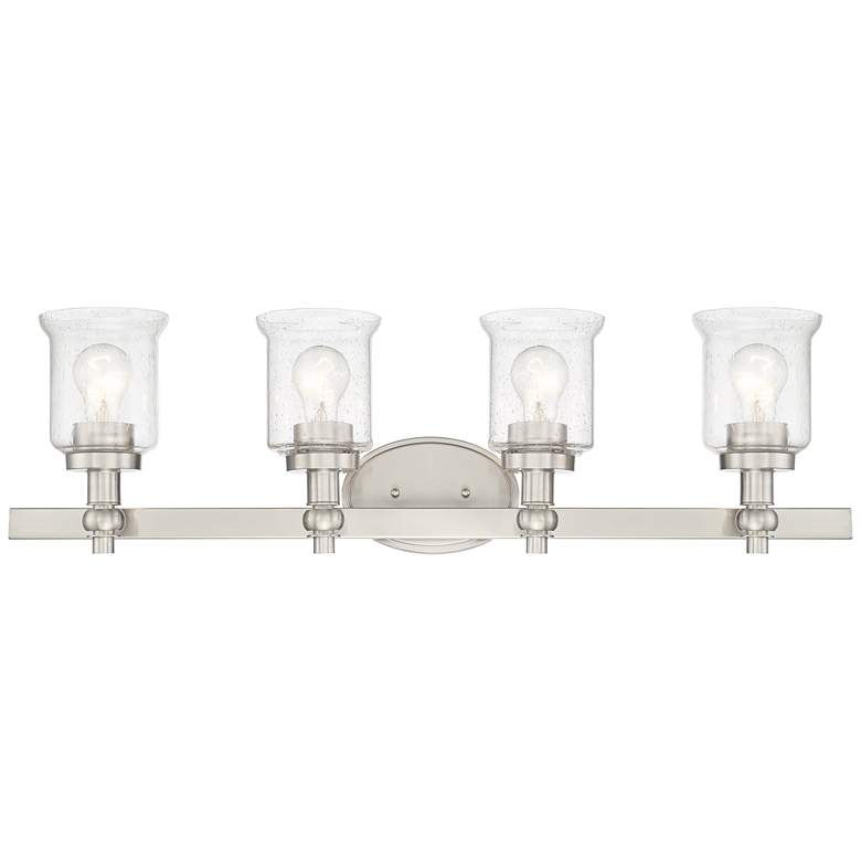 "Romano 31 1/2"" Wide Satin Nickel 4-Light Vanity Bath Light"