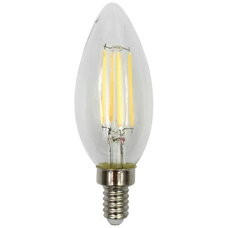 60W Equivalent 5W Filament 12 Volt Non-Dimmable LED E12 Bulb