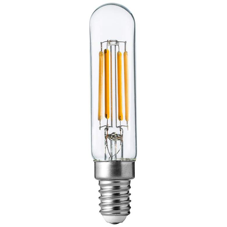 40W Equivalent T6 Clear 4W LED Dimmable E12 Base Bulb