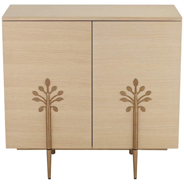 Astoria 2-Door Modern Cabinet with Bronze Flower Door Pulls