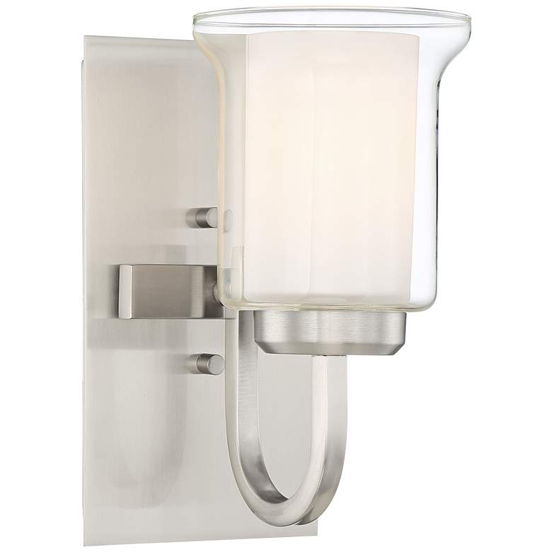 """Possini Euro Wallford 10"""" High Brushed Nickel Wall Sconce"""