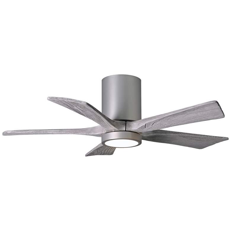 """42"""" Irene-5HLK Nickel 5-Blade LED Damp Hugger Ceiling Fan"""