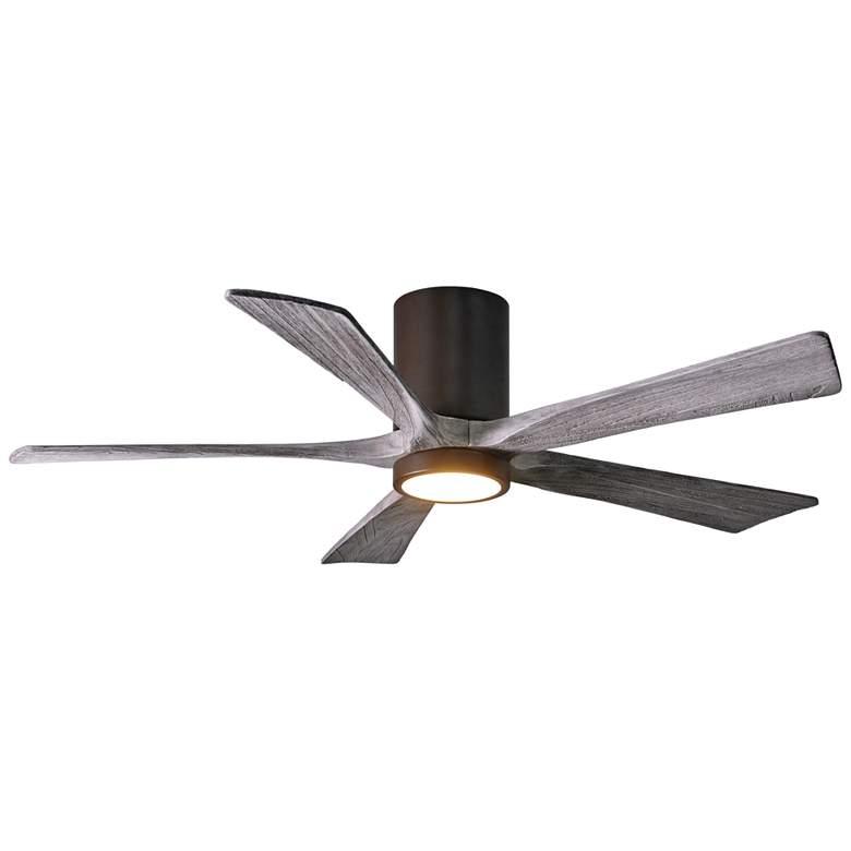 """52"""" Irene-5HLK Bronze 5-Blade LED Damp Hugger Ceiling Fan"""