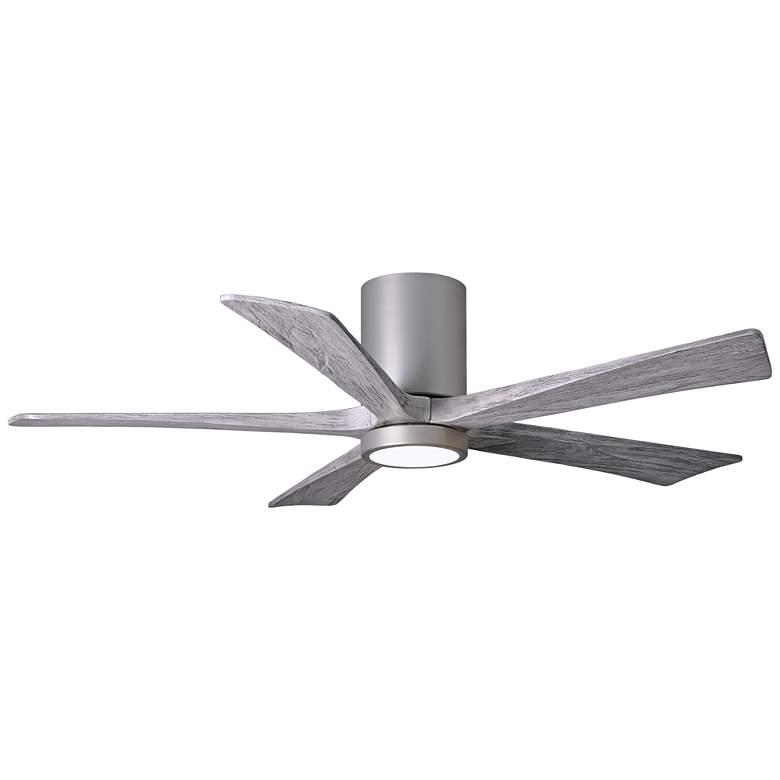 """52"""" Irene-5HLK Brushed Nickel LED Damp Hugger Ceiling Fan"""