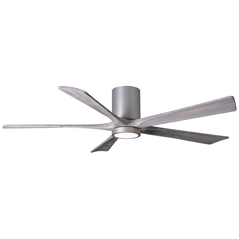 "60"" Matthews Irene-5 Brushed Nickel Damp Hugger Ceiling Fan"