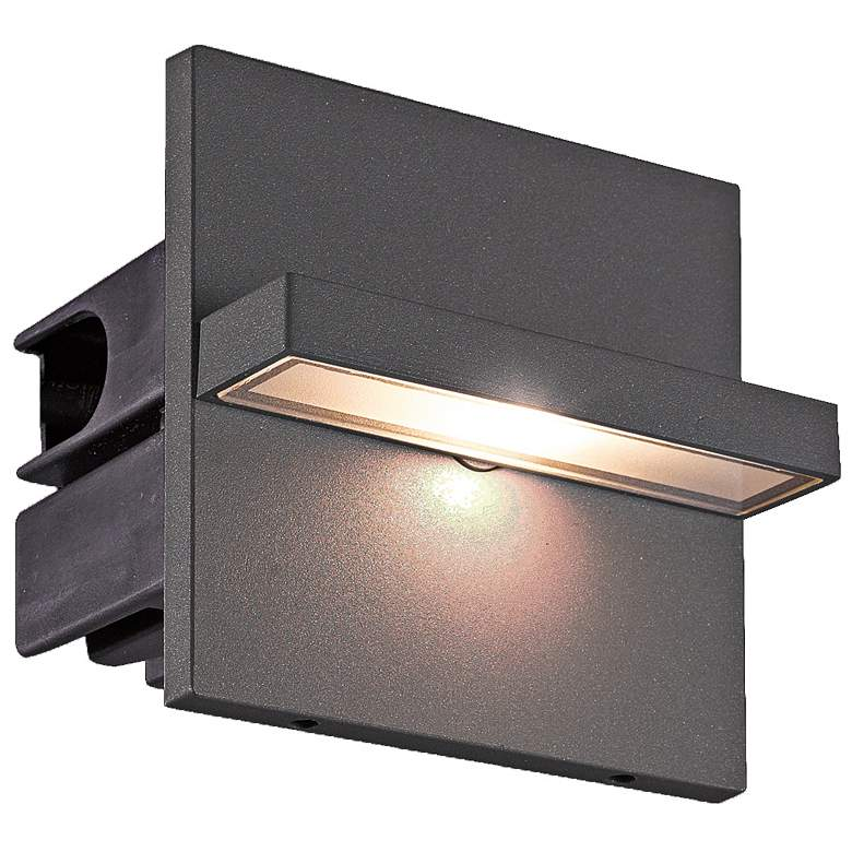 "Eurofase 4 1/4""W Graphite Gray Swivel LED In-Wall"