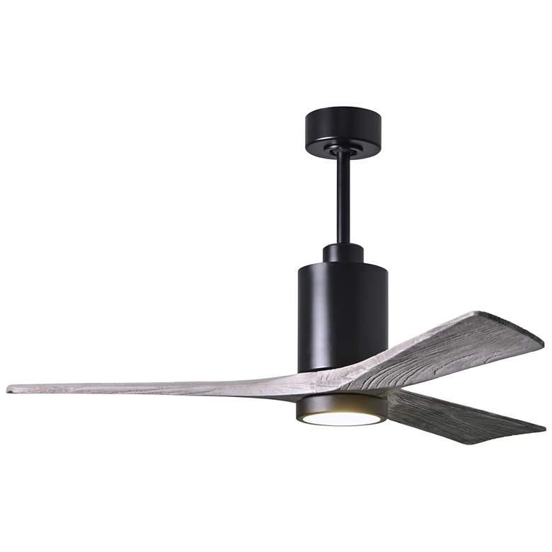 "52"" Matthews Patricia-3 Matte Black LED Damp Ceiling Fan"